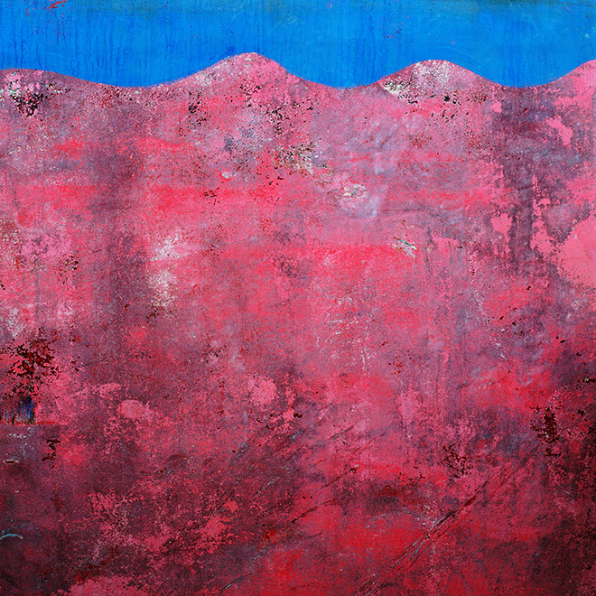 Found Paintings. blue pink
