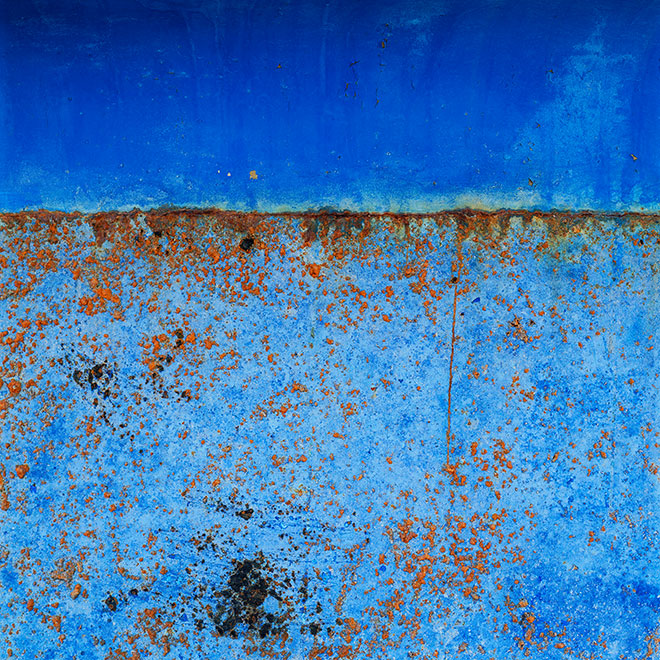 Found Paintings. blue blue 2