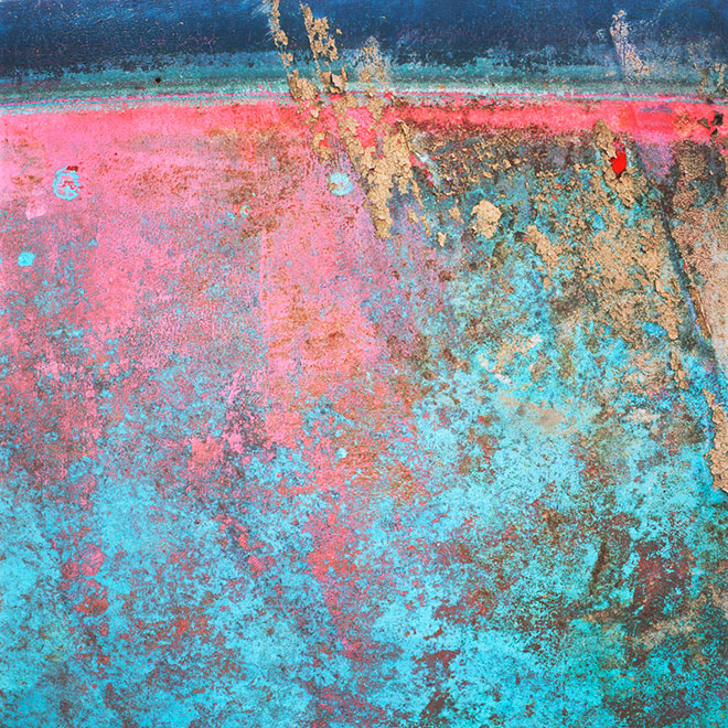 Found Paintings. blue pink (227_8)