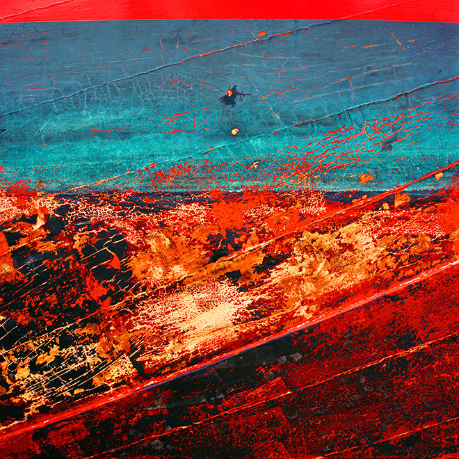 Found Paintings. red blue 2