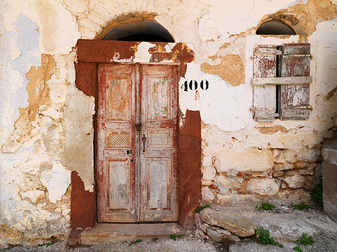 Abandoned Homes. Aghios Georgios Sikousis, Chios