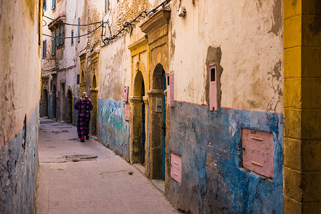 Essaouira - Life in the Medina. Pink.