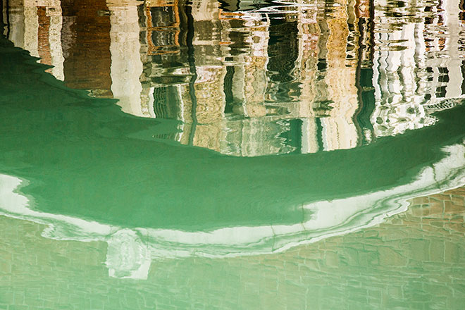Reflections of Venice. Painterly Bridge.