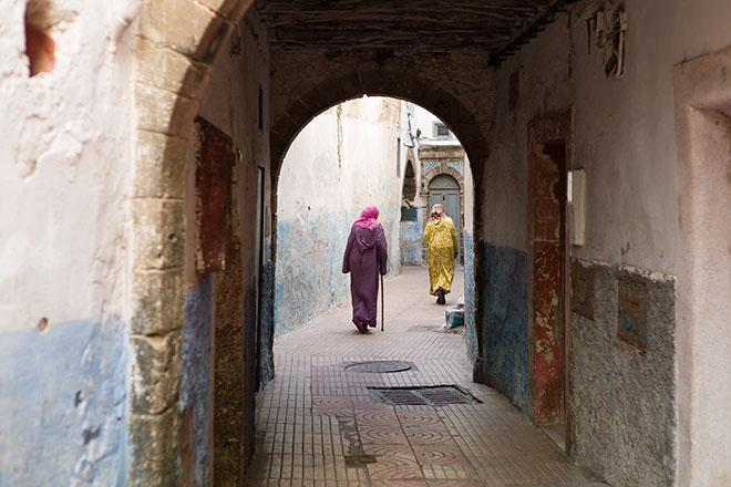 Essaouira - Life in the Medina. Following.